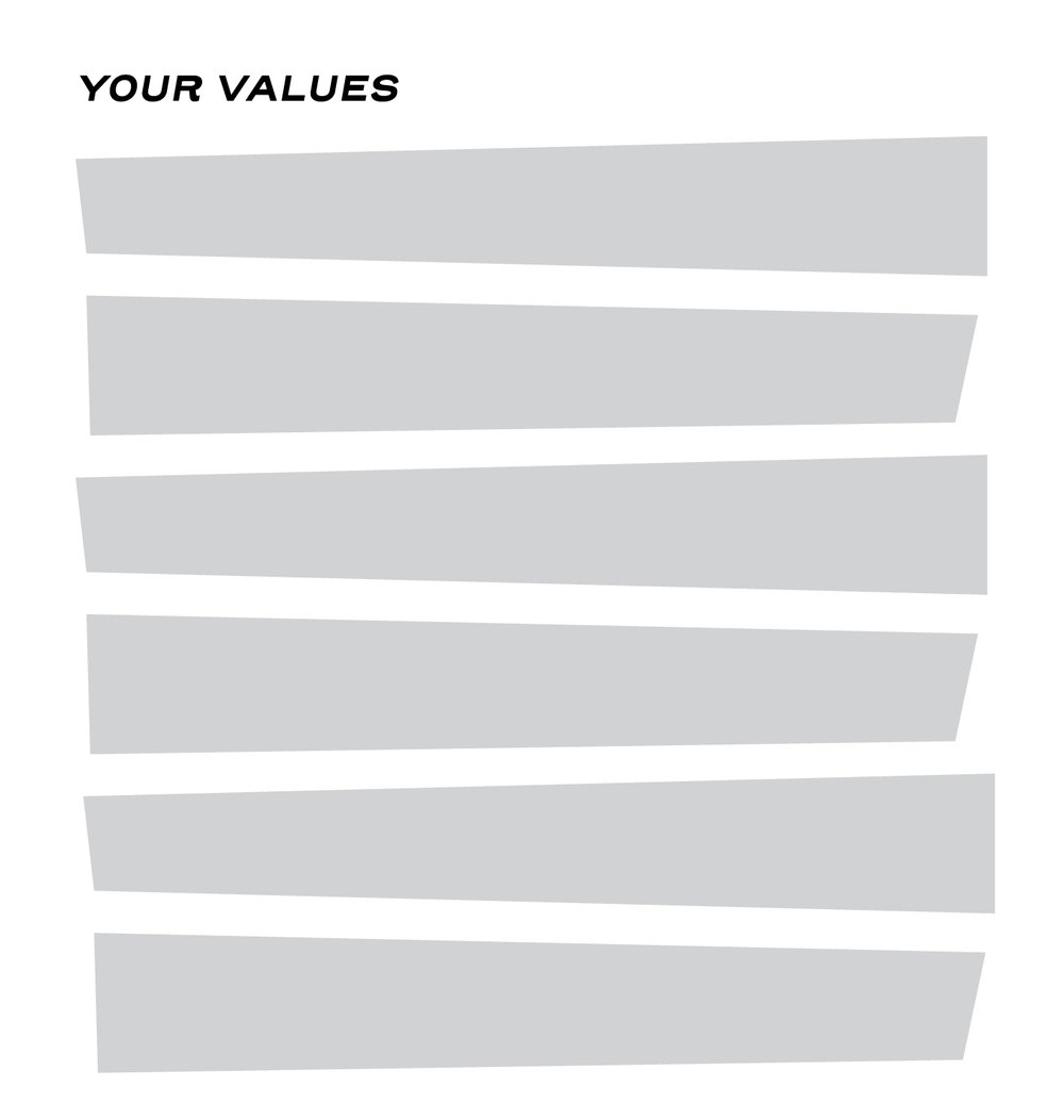 Optional: In your journal, write your values when it comes to your finances.   Examples:  Having more than enough to have fun. Security through retirement. Charity and giving back.