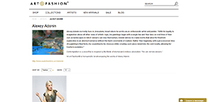 """Collaboration with the """"Art on Fashion"""""""