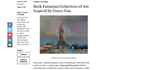 "Saatchi Art's ""Culture Crossing"" - Dark Fantasies: Collection of Art Inspired by Comic Con"