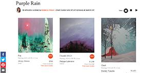 "Saatchi Art's ""Purple Rain"" Collection"