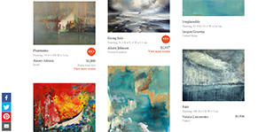 """Saatchi Art's """"Inspired by Turner"""" Collection"""