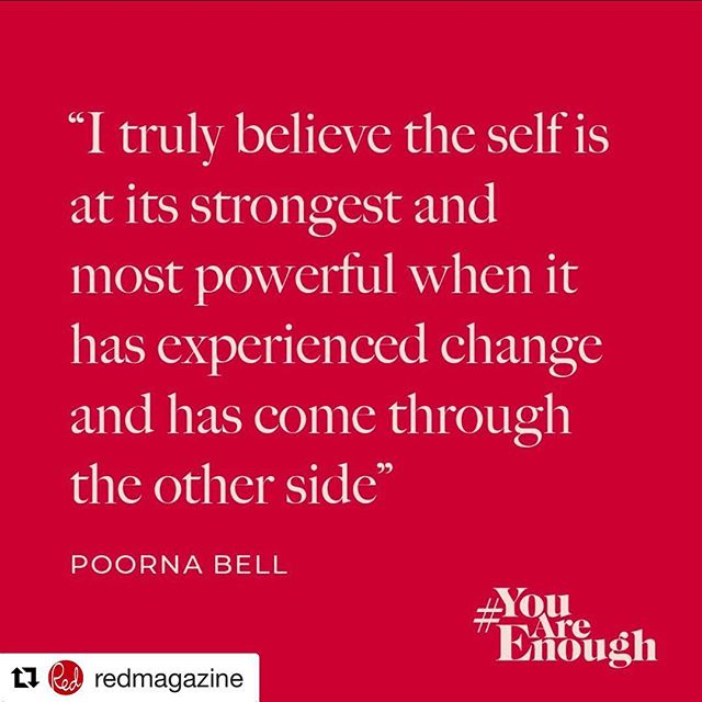 "FML founder @poornabell is part of @redmagazine #YouAreEnough movement - talking about the self, and how it powers you through challenging times (even when it doesn't seem like it) #Repost @redmagazine ・・・ ""I [always] assumed, that whatever tough things life would throw at me, the solution to fixing it would be found in the strength of other people Until life threw something unimaginable at me. And I was forced to realise that when something so huge tears your very sense of self asunder, the only person who can piece it back together is yourself. It was when my husband Rob passed away in New Zealand while staying with family in 2015. It began with a phonecall from my mother-in-law to tell me he had taken his own life."" - The sixth instalment of our #YouAreEnough campaign is this powerful and poignant piece by @poornabell on how she pieced herself back together after unimaginable loss. It's a candle in the dark, a crucial reminder that in life's bleakest hours, you alone are stronger than you can imagine. #mentalhealthawareness #selfcare #self #wellbeing #wellness"