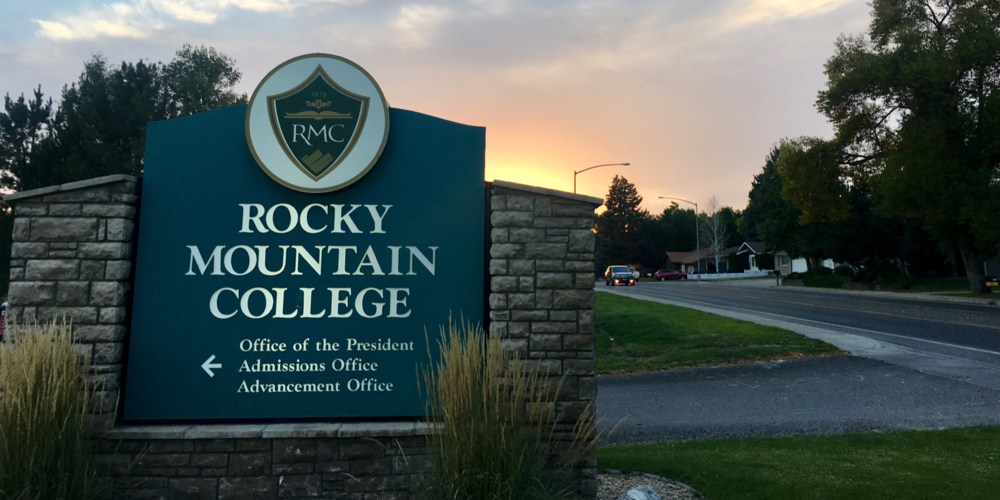 The sun setting on rocky mountain college for one of the last times