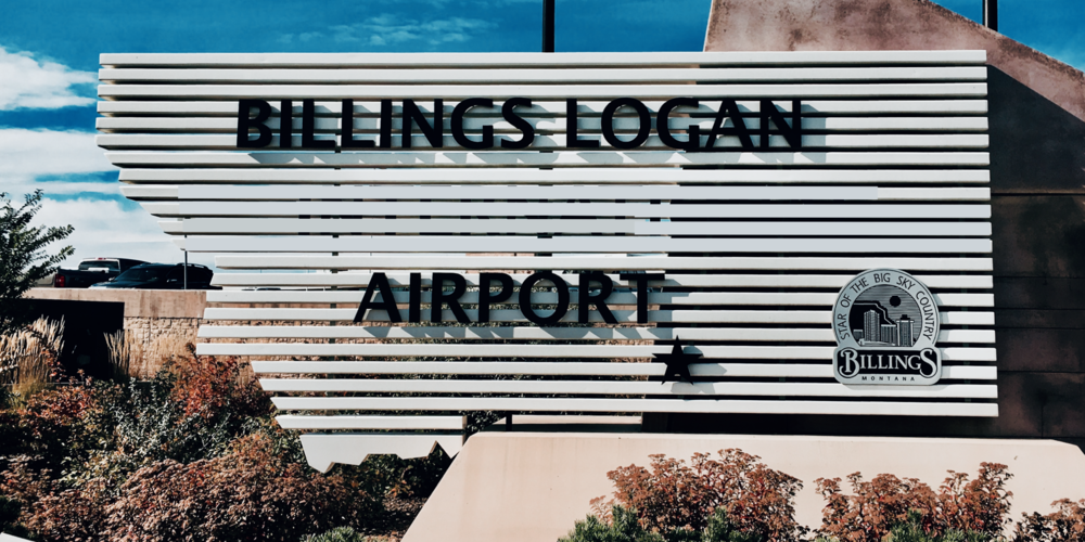 The Billings Logan Airport sign finally reflecting changes made years ago