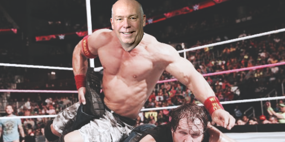 Gianforte on top of opponent Ben Jacobs, May '17