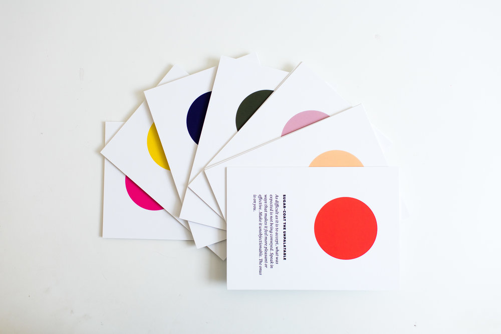 50 cards, colors, and insights. Endless paradigm shifts, a-has, and affirmations.
