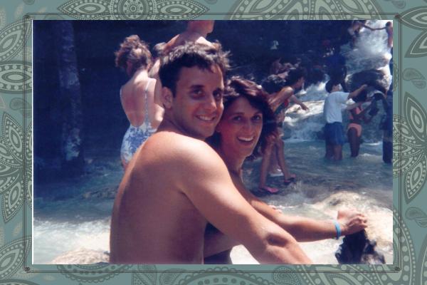 Climbing the Dunns River Falls in Jamaica on our honeymoon, August,1993.   https://www.dunnsriverfalls.net