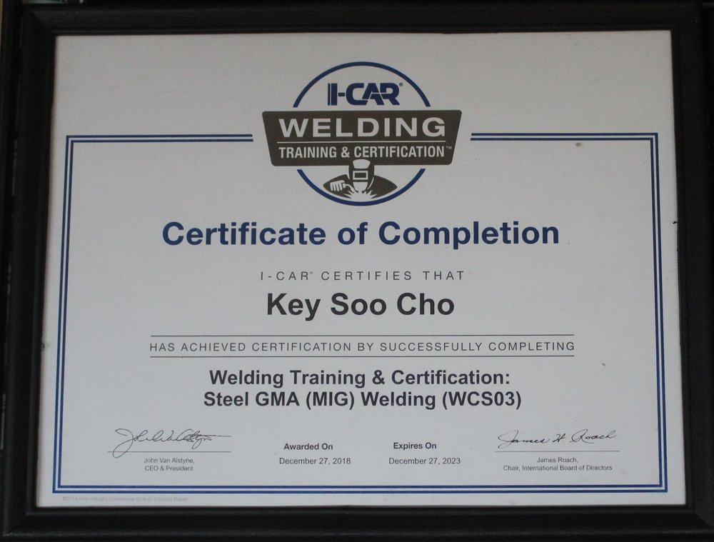 cho's body shop houston certificate.JPG