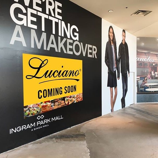 Don't worry fans of the Luciano's Ingram Park Mall.  We are NOT going anywhere.  They're giving the Food Court a facelift & us a larger place