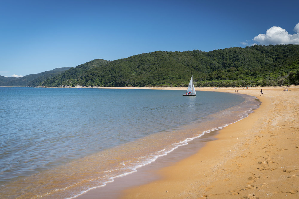 Totaranui Bay with its orange sand in Abel Tasman National Park