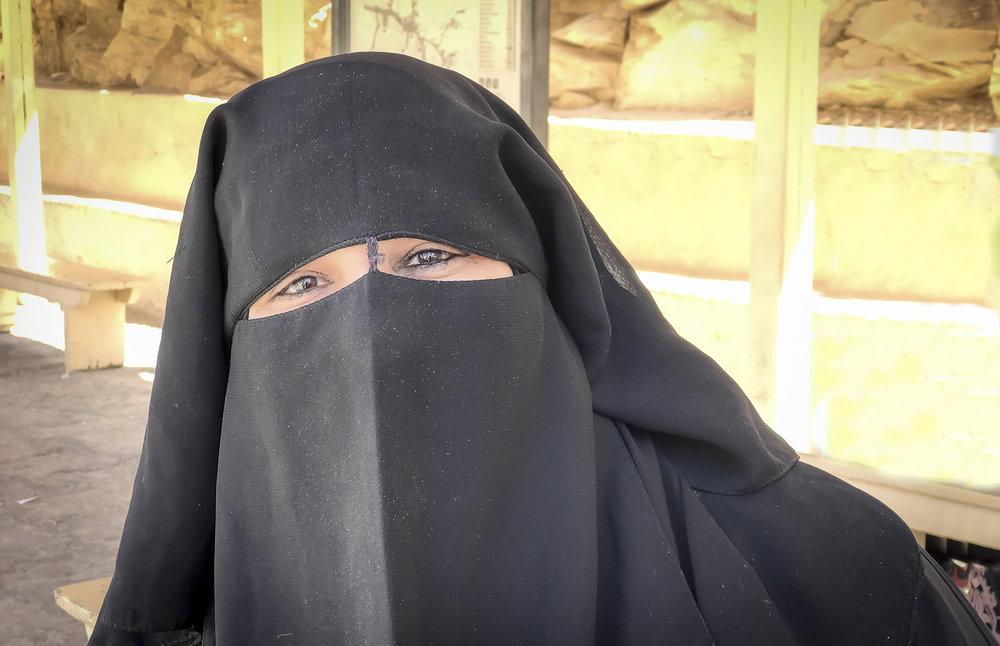 Egyptian woman in niqab