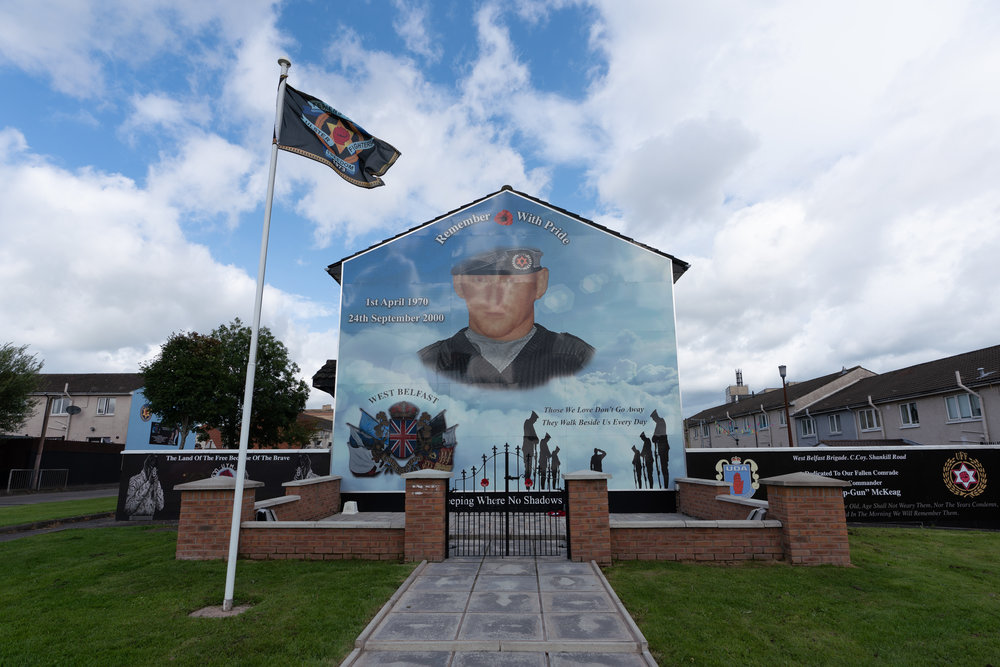 Mural of local Protestant soldier honored for killing many Catholics