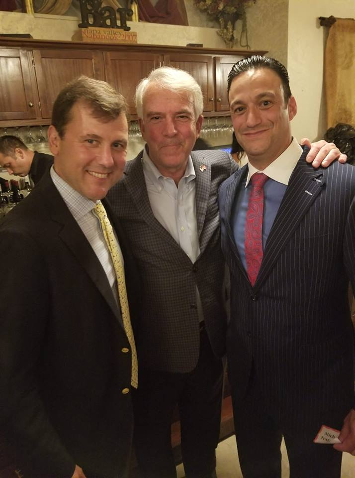 Sate Senator Tom Kean, U.S. Senate Candidate Bob Hugin and Cumberland GOP Chairman Michael Testa