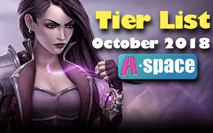 Eternal Tier List - October 2018 - We may have been hit with a balance patch, but we can still talk about the tier list!Article/Video - Neon - October 11, 2018