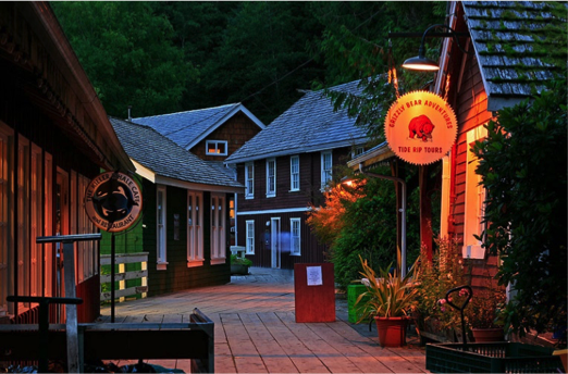 Telegraph Cove, B.C. – Example of rustic seaside charm.  Photo by Paul Enns,  TrekEarth