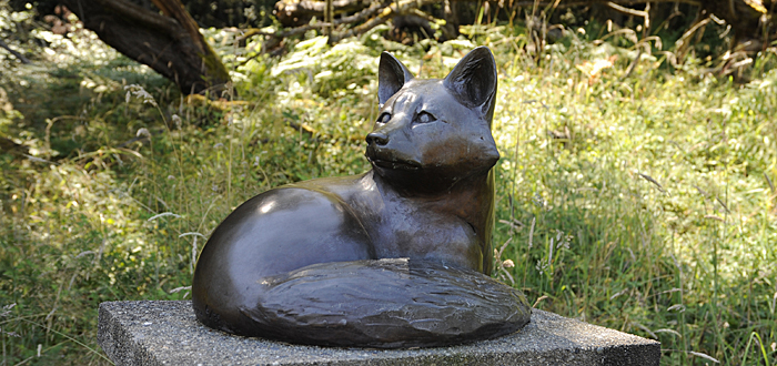 Red Fox by Georgia Gerber at the San Juan Islands Sculpture Park