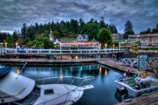 Roche Harbour, WA – Example of seaside elegance.  Photo courtesy Tim Dustrude,    San Juan Update