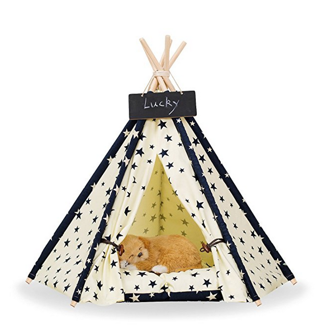 Blue and White Pet TeePee
