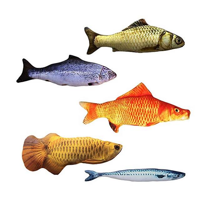 Cat Nip Fish Pack of Five