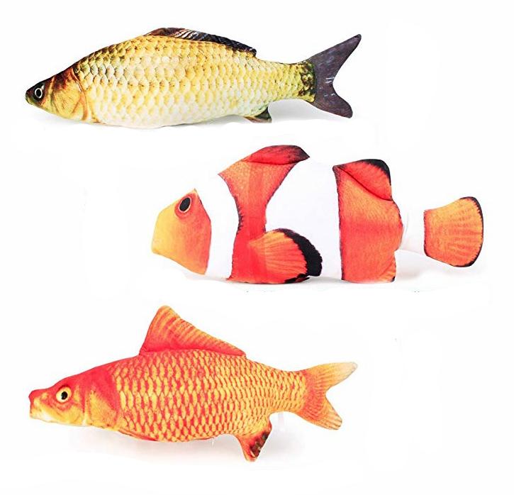 Set of Three Large Catnip Fish