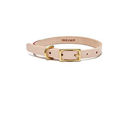 Leather dog collar light brown.png