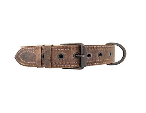 Leather dog collar handmade brown.jpg