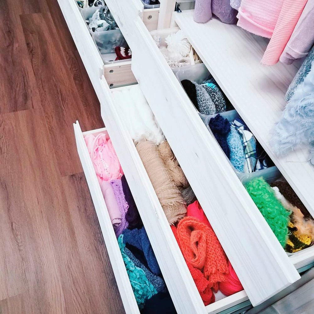 DRAWERS FULL OF ROMPERS, BONNETS, WRAPS, HATS AND MORE!