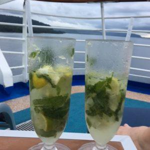 cocktails on back of ship