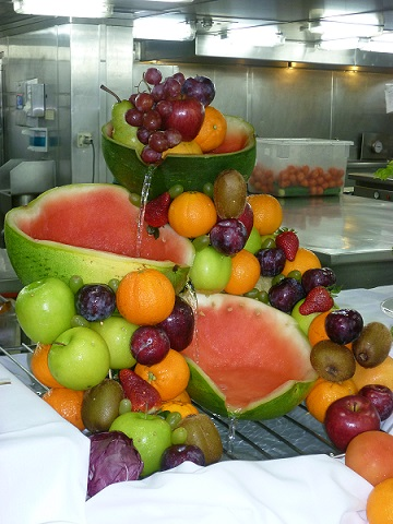 fruit carving on cruise