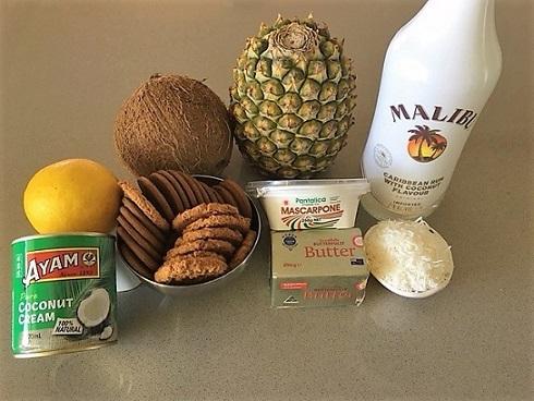 ingredients for coconut tart