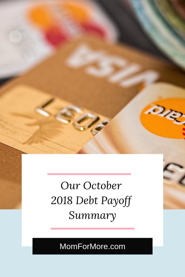 Oct 2018 debt payoff