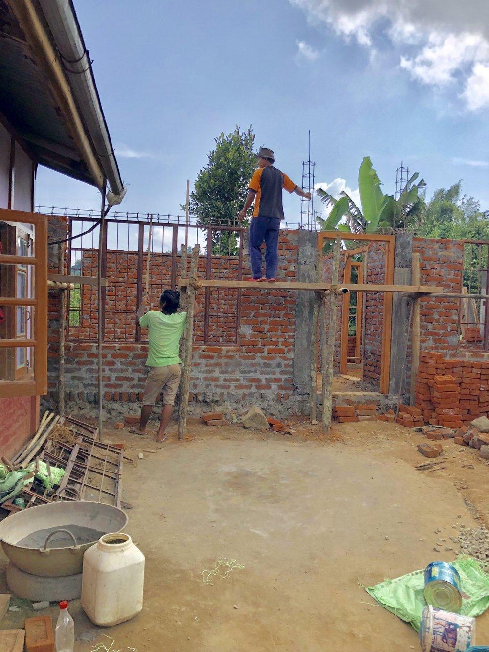 The extension at Agun Ki underway.