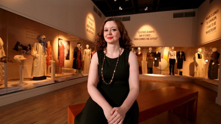 Curator Charlotte McReynolds at FASHION & FEMINISM 'National Museum NI'