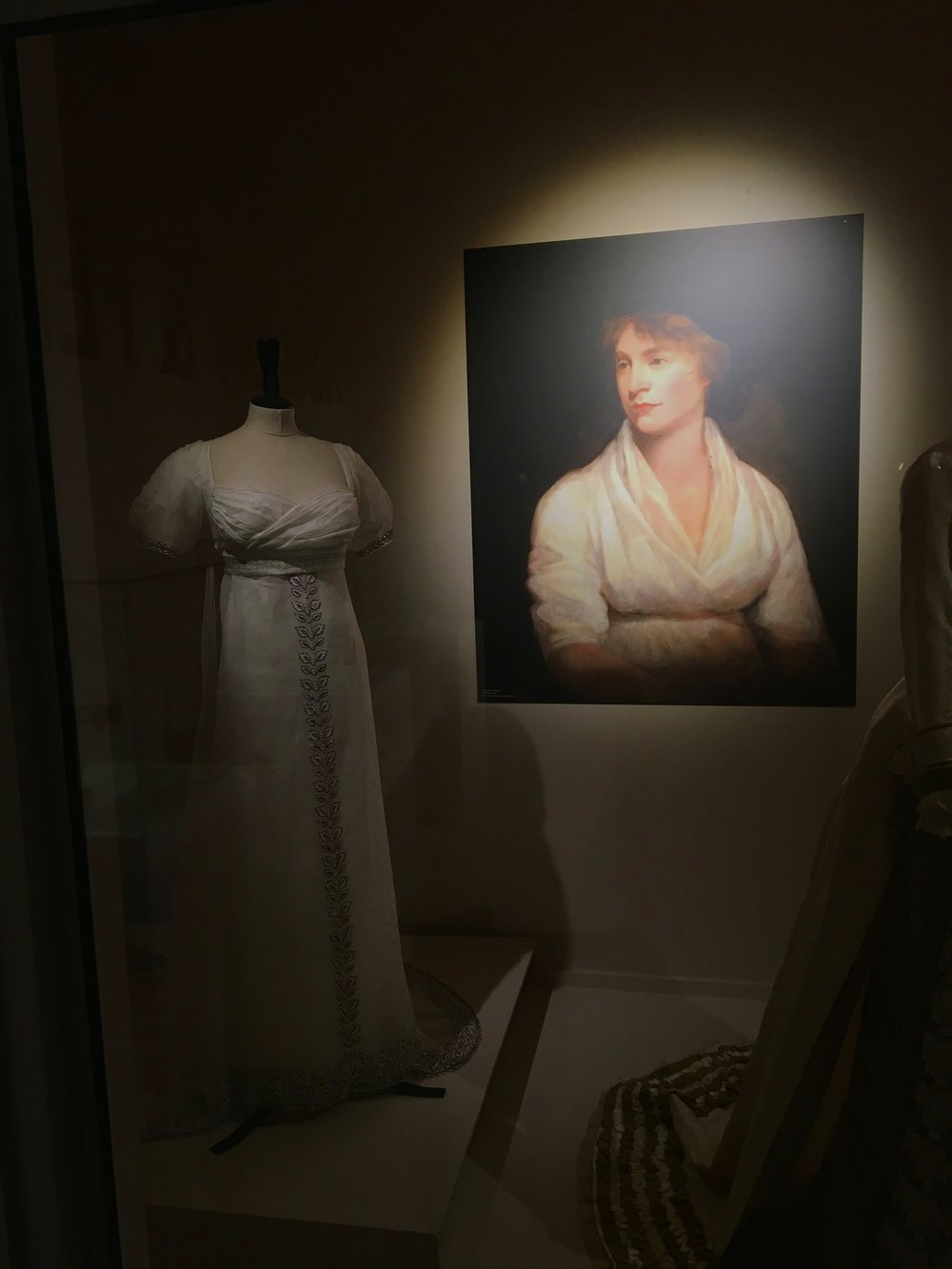 White Muslin gown with Train from the 1800s  'National Museums NI'