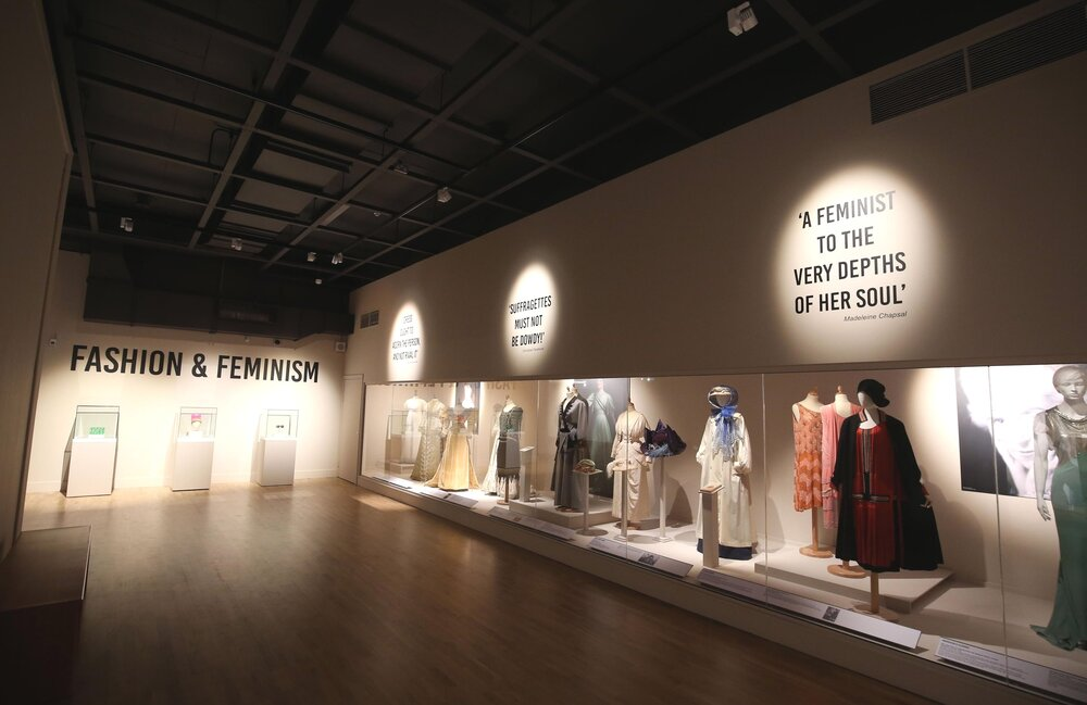 FASHION & FEMINISM at the Ulster Musem curated by Charlotte McReynolds