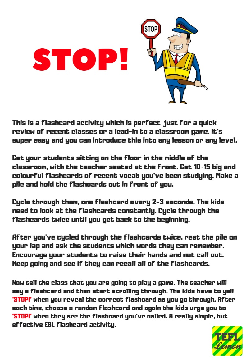 Esl flashcard games for adults