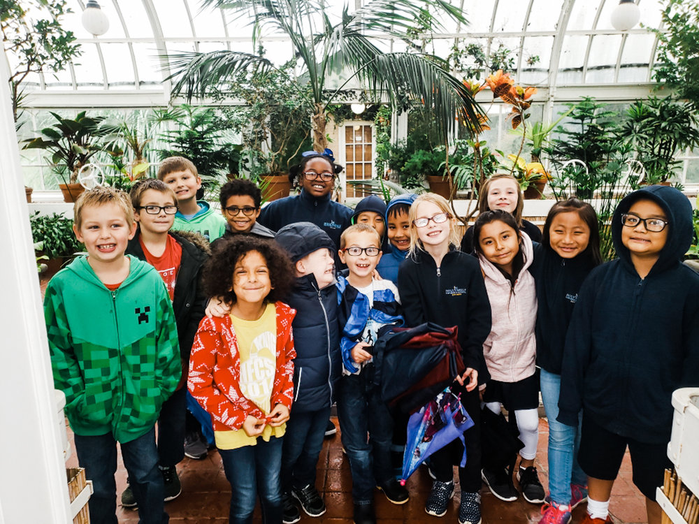 Our second graders went on a field trip to the Linnaeus Teaching Gardens on Friday!