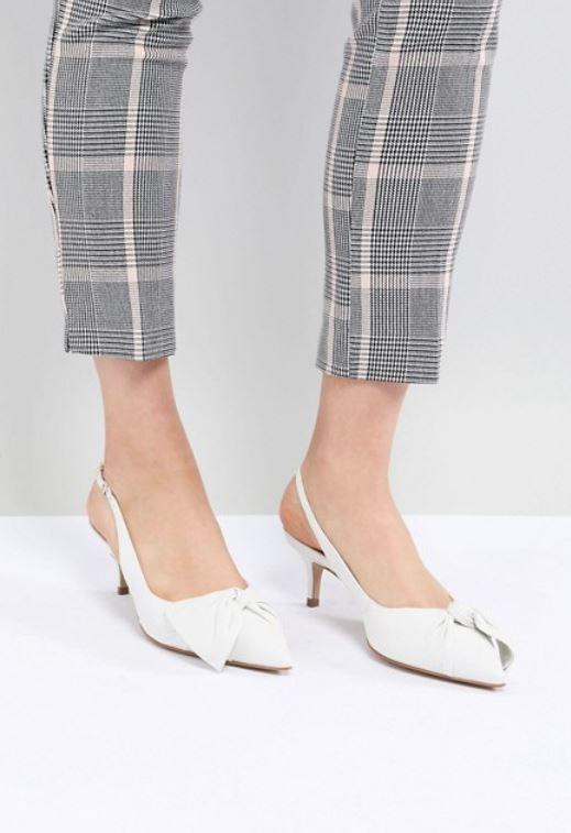 d7c736f48b1 Aldo Knot Slingback Kitten Heels - These heels provide modern day comfort  and retro style.