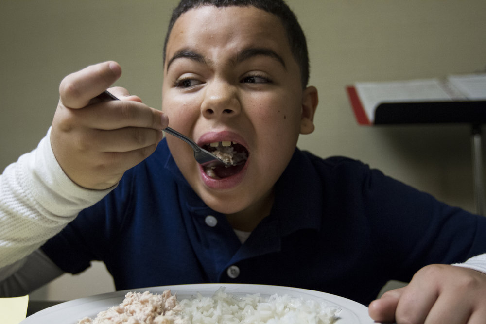Most of Raul and Asaf's meals consisted of tuna, rice, and beans
