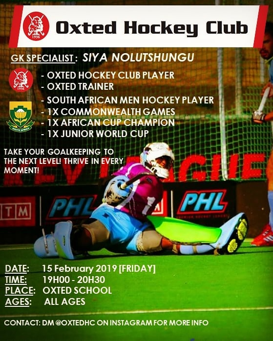Goalkeeper Masterclasses with our very Men's 1s GK @siyanolutshungu 🔥☄ Free to all @oxtedhc club members! If you're not a goalkeeper but would also like to gain some GK knowledge! Pull through!! 💪👊🔓 #OxtedHC #fieldhockey #goalkeepersareamazingpeople #goalkeeping101 #masterclass