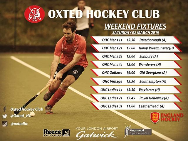 Exciting round of fixtures this weekend! Wishing all our teams the best for the upcoming weekend! Come on the O's!🔥⭕🔝 #OxtedHC #fieldhockey #fixtures #weekendspecial #goodtimes #goodvibes #goodpeoole #clubculture