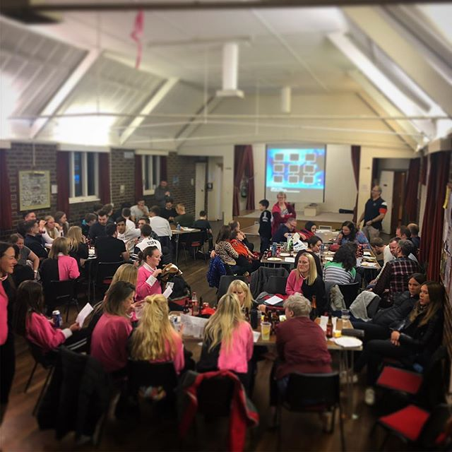 Saturday's OHC annual race night 🐎🐖🏆🍾. Things didn't get competitive, much 🤐. Thanks to bookie Bob, the Dobson's, Sue's caterin' & various bar tenders to make this a huge night. Lots raised for the Club and @royalmarsden #ohc #oxtedhc #racenight #winners #bookiebob #pigmypig #tote