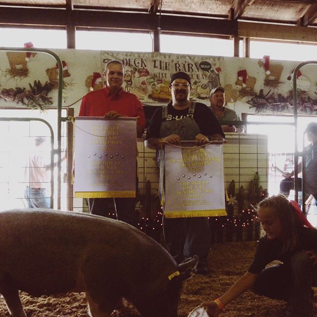 Supporting our youth and future farmers. Congratulations to Hunter Griffis on his Grand and Reserve Grand Champion Market Hog.  #trumbullcountyfair #4h #wearewarren #weloveourcustomers