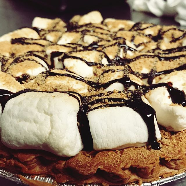S'mores Pie! All desserts always 2 bucks. #scratch #goeswithbbq