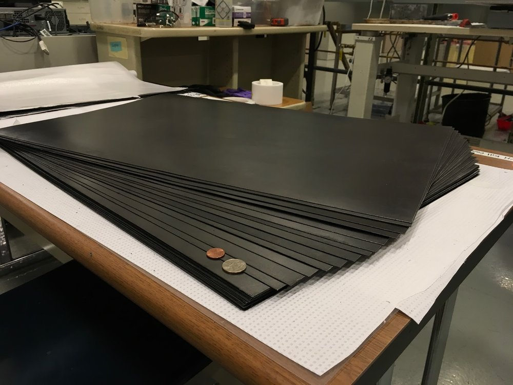 eC17 is a bi-polar plate - used within the electrode stack of redox flow batteries. These electrode stacks are often targeted for cost reduction as they account for roughly 30% to 35% of the total cost of the battery. Our product was designed to offer low resistivity, very low permeability rates and good mechanical strength.