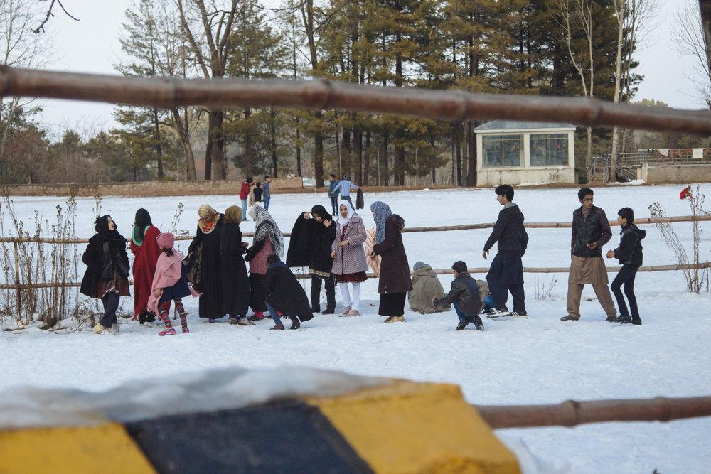 A Village Snowball Fight