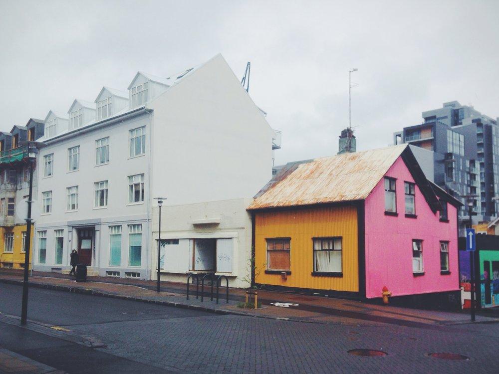 colourful buildings, city centre reykjavik