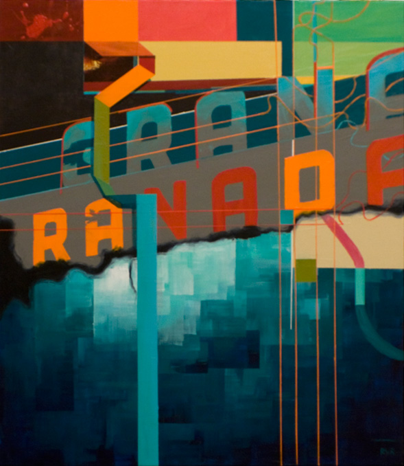 "THE GRANADA SOUND MACHINE 21""x24"". ACRYLIC ON CANVAS (SOLD - COMMISSION)"
