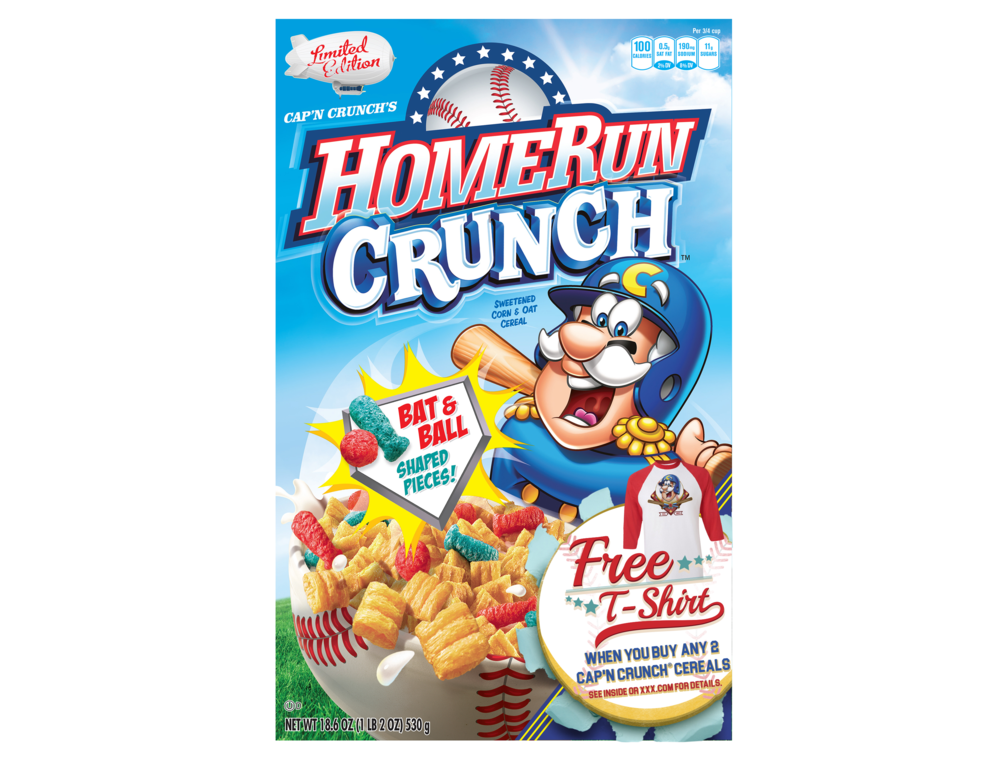 CAP'N CRUNCH HOMERUN CRUNCH PACKAGING VIOLATOR