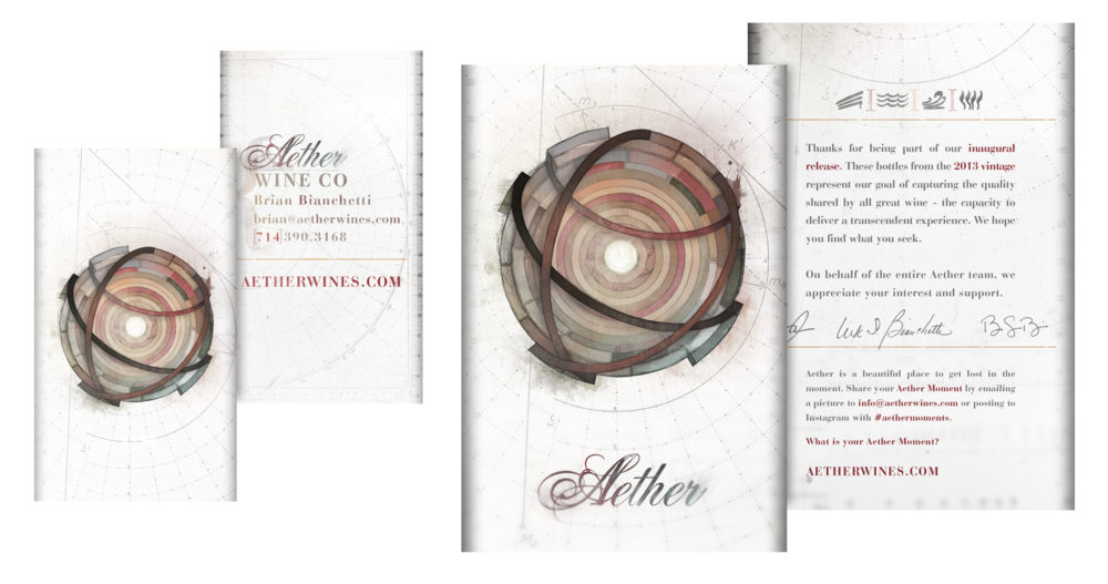 BUSINESS CARDS AND WINE CASE INSERT {DESIGN AND ILLUSTRATION}